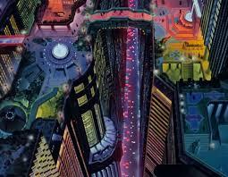 akira panoramas rooftop cyberpunk and sci fi city