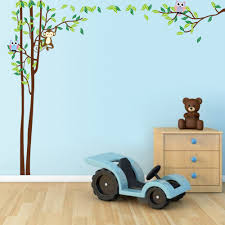 popular tree wall sticker buy cheap tree wall sticker lots from monkey owl tree wall stickers baby nursery decor decal china