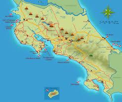 Mexico Volcano Map by Costa Rica Scuba Diving Map Villas De Oros Can Arrange Your Diving
