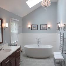 Master Bathroom Color Ideas - the wall color is krypton sw6247 by sherwin williams paint