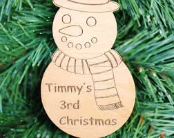 ships fast custom family ornament engraved wood christmas