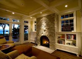 Classic American Living Room  Fireplace Design Interior Design - American living room design
