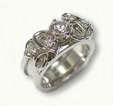 Ring With Initials Initials Reverse Cradle Engagement Rings Designet International
