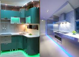 Led Lighting Over Kitchen Sink by Futuristic Kitchen Light Fixtures Design With Floral Led Lighting