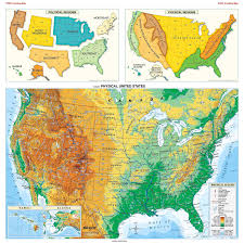 Physical Map Of Canada by Large Detailed Physical Map Of The Usa The Usa Large Detailed