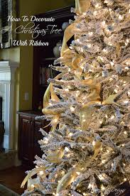 how i decorate my christmas tree with ribbon and another tip