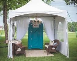 wedding porta potty accessorizing ideas for your portable bathrooms at a wedding