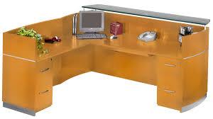 L Shaped Glass Desk With Drawers by Receptionist Desks Decorative Desk Decoration