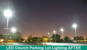 Led Parking Lot Lights Applications Hotels Churches Schools