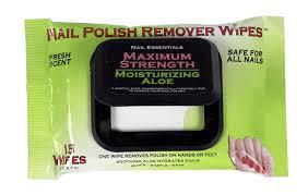 amazon com nail essentials nail polish remover wipes