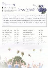 wedding flowers list wedding flower price list wedding corners