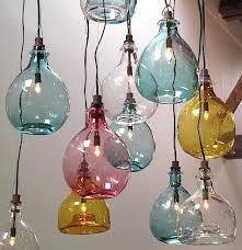 Colored Glass Pendant Lights Blown Glass Lighting Organic Blown Glass Pendant West Elm