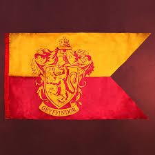Red Orange Flag Harry Potter Gryffindor Flagge Elbenwald