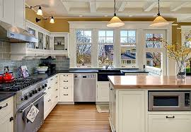 a blue and white colonial style craftsman in seattle hooked on