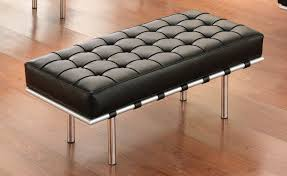 long leather ottoman bench ideas home decoration gallery