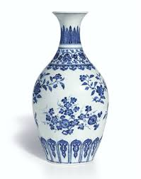 a superb ming style blue and white vase mark and period of