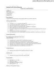 sample of driver resume driver sample resume skills