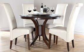 White Gloss Dining Room Table by Dining Table Black Dining Table With White Leather Chairs White
