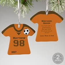 Soccer Ornaments To Personalize Personalized Soccer Jersey Christmas Ornaments