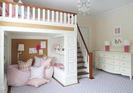 Kid Loft Beds U0027s Room With Lofted Bed Nightingale Design Kids Rooms