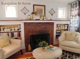 wall and mantle makeover at my house u2026 bungalow home staging