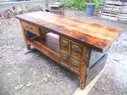 hypnotic industrial reclaimed kitchen island with oil rubbed