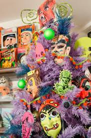 diy stenciled classic monster ornaments for a halloween tree