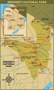 Tanzania Map Serengeti Plains National Park Guide