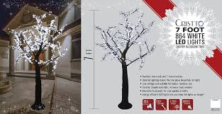 cristto 7 ft 864 led tree out door lighting