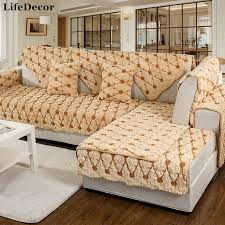 Sofa Covers For Leather Couches Plush Anti Skid Sofa Covers For Living Room Leather European