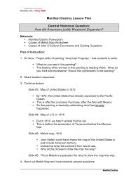 manifest destiny lesson plan sheg