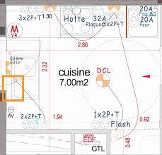 hauteur prise cuisine hauteur prise plan de travail cuisine frais norme electrique prise