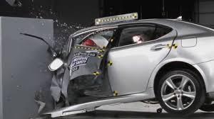lexus sedan small iihs 2012 lexus is 250 350 small overlap crash test poor