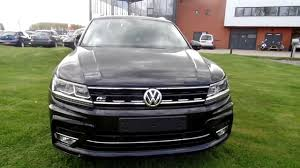 volkswagen tiguan r line deep black 2017 2018 dsg youtube