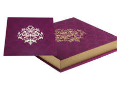 indian wedding card box wedding card box in purple and golden colour cards boxes
