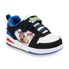 size 5 light up shoes nickelodeon boy s paw patrol black white blue light up skate