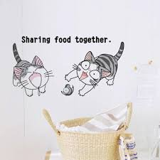 Stick On Wall Cat Walls Stickers Baby Room Wall Decals Creative Style Diy