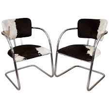 1930s pair of kem weber chairs in cowhide at 1stdibs