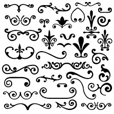 ornamental elements collection vector free
