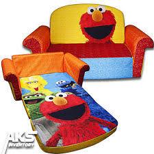 Flip Open Sofa For Kids by Elmo Chair Muppets Sesame Street Ebay
