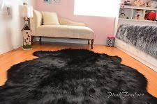 faux animal skin rugs ebay