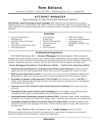 account manager resume exles account manager resume sle