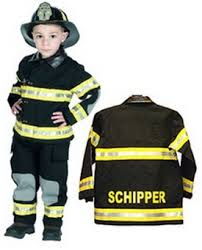 Fireman Costume Personalized Child Firefighter Costume Black