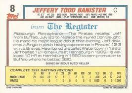 Todd Banister 1992 Topps Debut U002791 Baseball Gallery The Trading Card Database