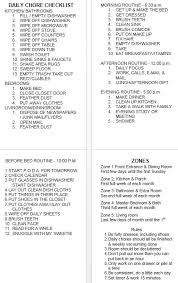 12 free sample family chore list templates u2013 printable samples
