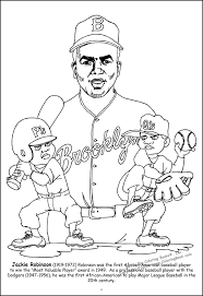 Robinson Coloring Page Jackie Robinson Coloring Page