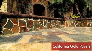 califonia gold slate pavers wall veneer loose ledgers water