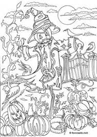 creative haven autumn scenes coloring book dover samples