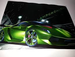 lamborghini car posters free lamborghini poster neon green posters listia com