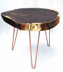 round walnut side table walnut natural live edge round slab side table coffee table wit